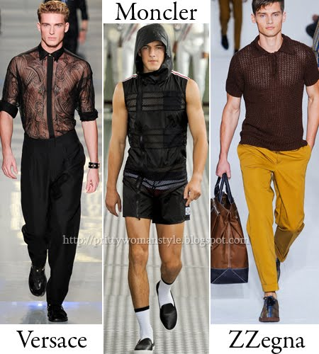 Мрежести мъжки блузи и прозрачни ризи