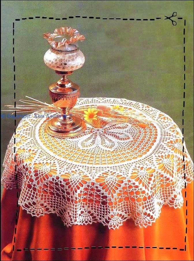 Carpeta circular crochet