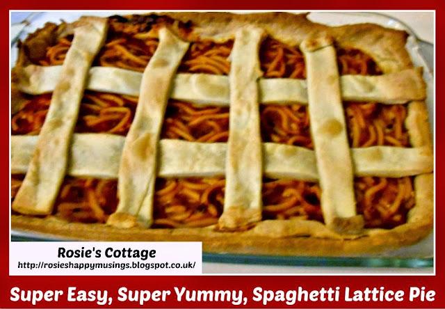 Spaghetti Lattice Pie - recipe and tutorial