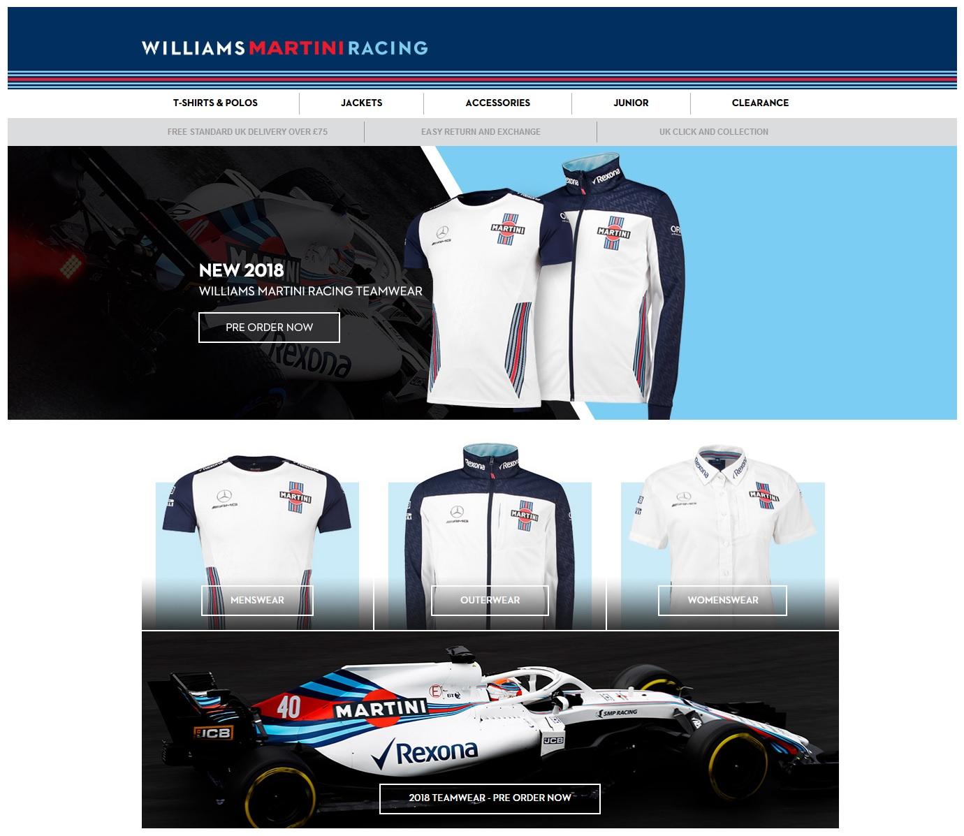 WILLIAMS MARTINI RACING shop