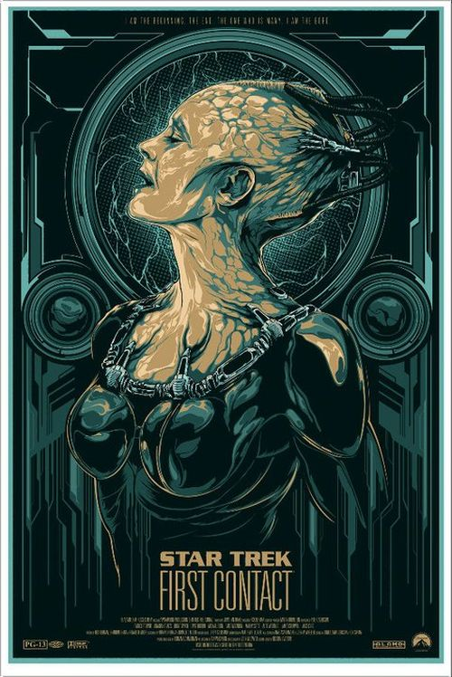 Ken Taylor illustrations movie posters silkscreen Star Trek: First Contact