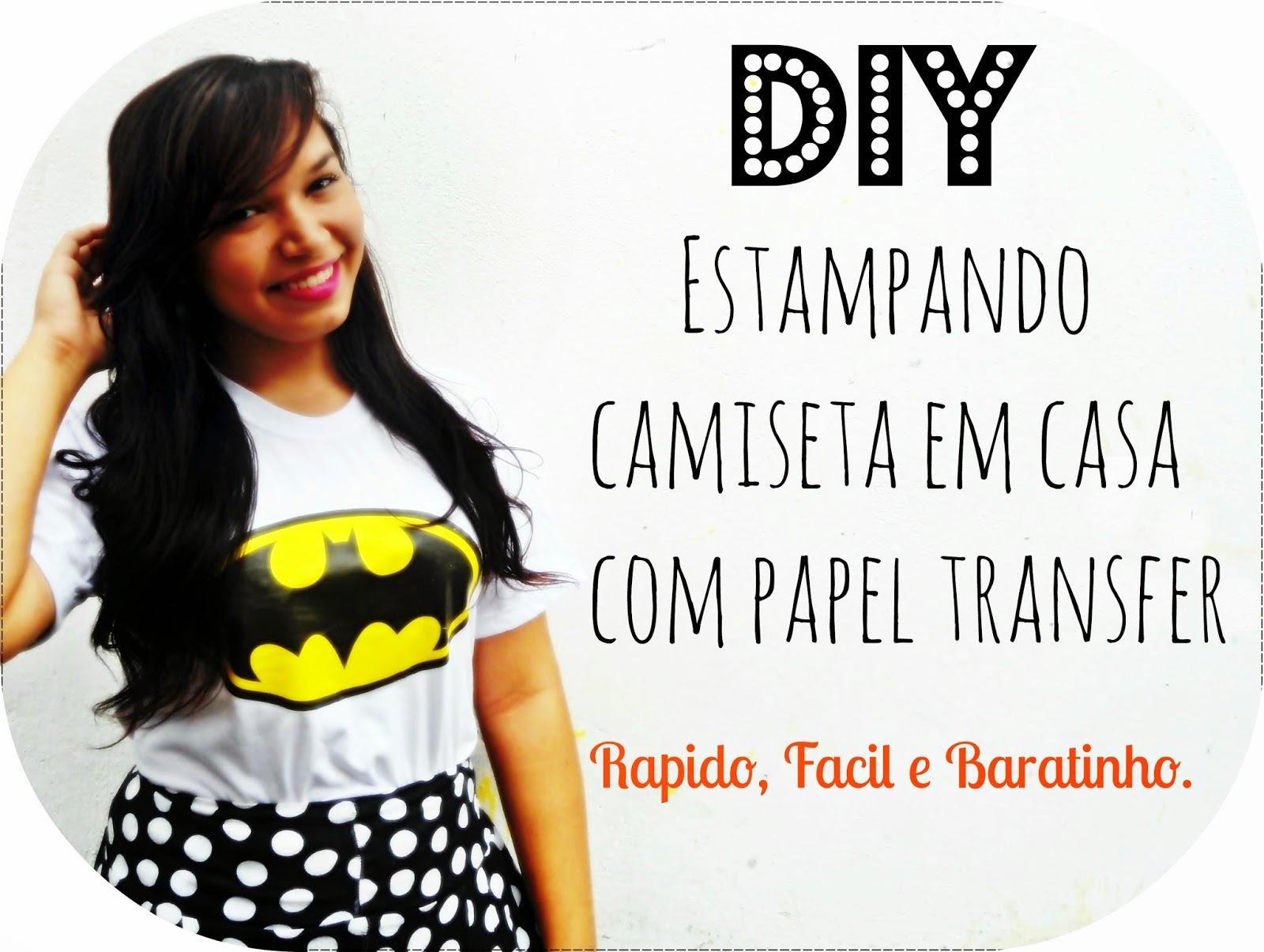 Letras de batom diy estampando camiseta em casa com papel transfer - Estampar camisetas en casa ...