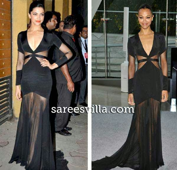 Zoe Saldana and Deepika Padukone in same dress