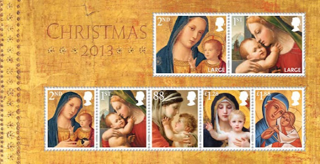 Christmas 2013 stamp miniature sheet.