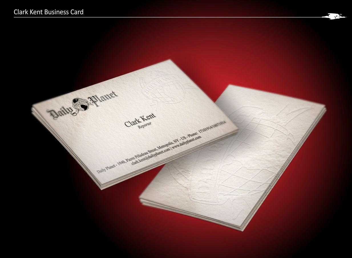 CASACURTA DESIGN: Superhero\'s Business Cards - KLARK KENT