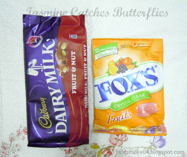 Dairy Milk Fruit and Nut and Fox's