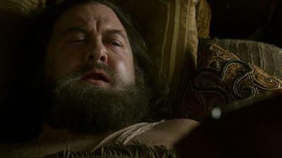 Robert Baratheon en su lecho de muerte, tras ser atacado por un jabalí - Juego de Tronos en los siete reinos