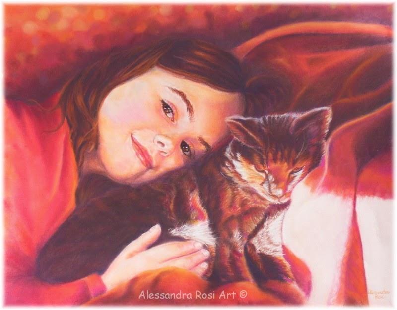 commission family portrait, custom pet portraits, children painted portrait