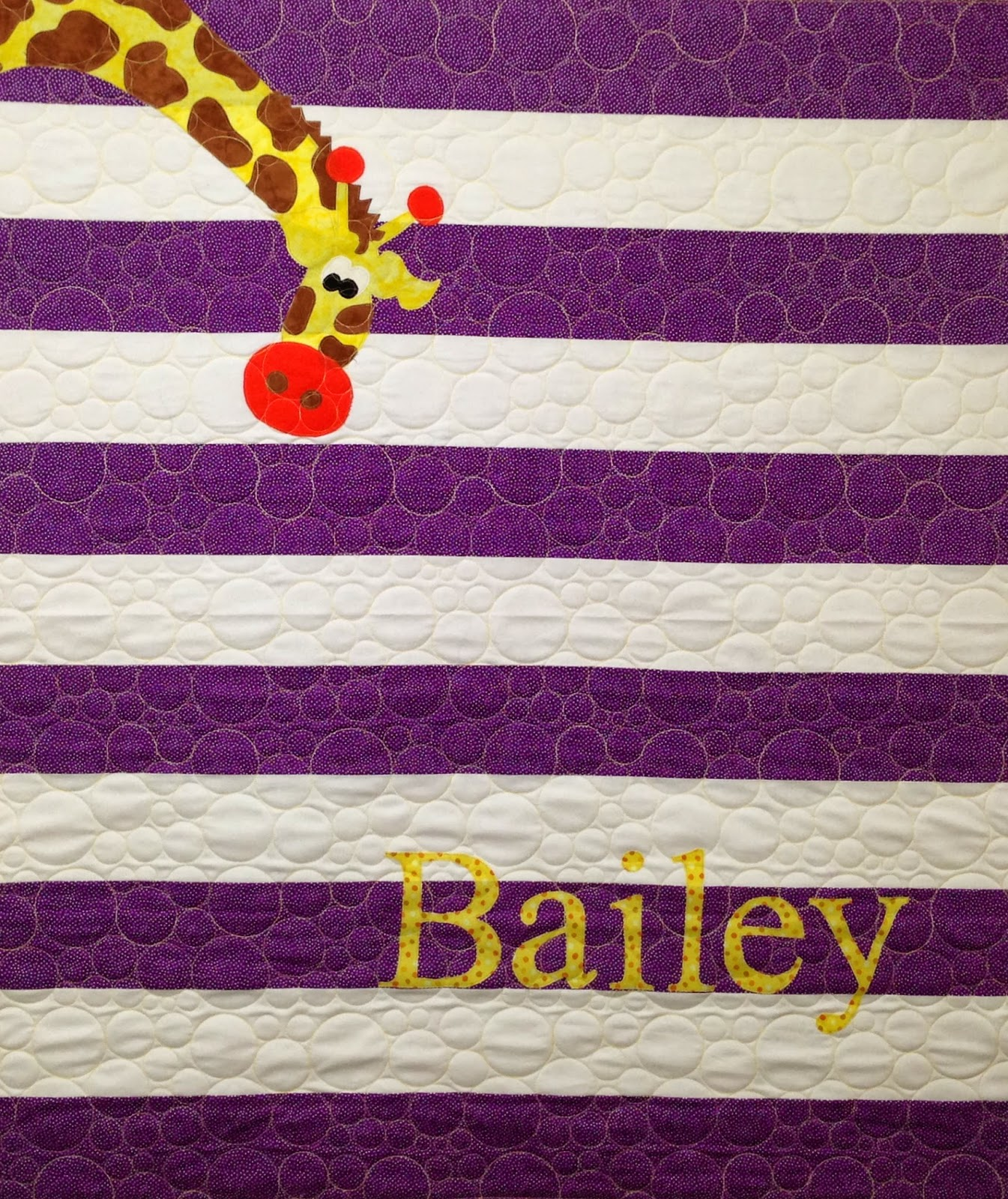 Chris Olsen Purple Strip Baby Quilt