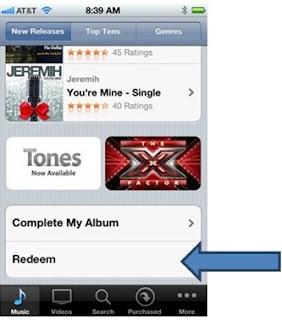 Como resgatar o codigo iTunes Store EUA em iPhone iTunes
