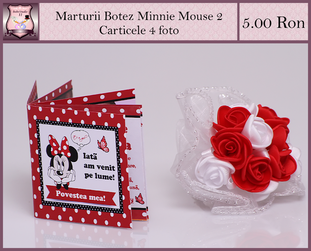 set marturii botez minnie mouse