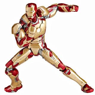 Kaiyodo Revoltech Iron Man 3 - Iron Man Mark 32 Figure