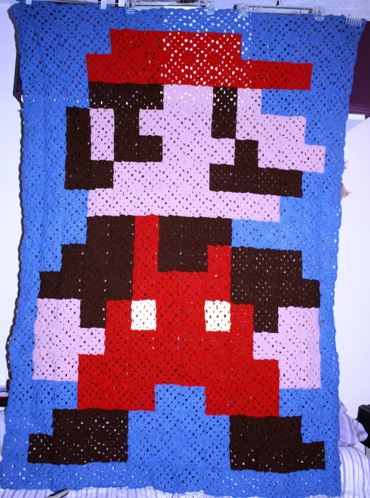 CROCHET PATTERN SUPER MARIO AFGHAN GRAPH E-MAILED.PDF ...