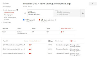 cara mengatasi error hatom structured data missing author updated webmaster tools