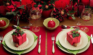Mesas decoradas Natal