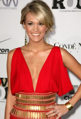 Carrie Underwood Gold Chandelier Earrings