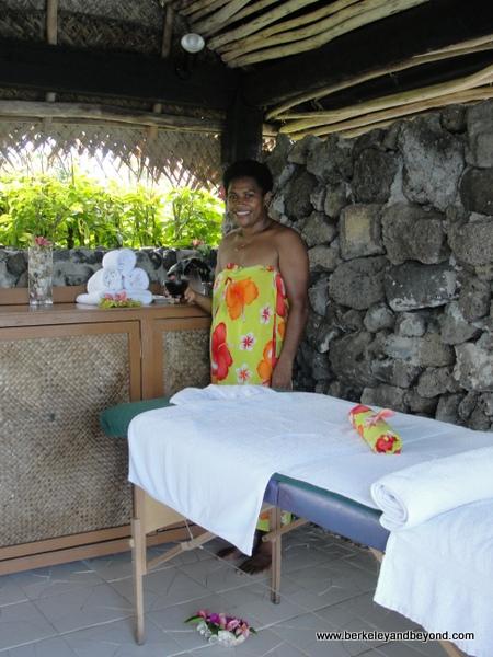massage room at Paradise Taveuni in Fiji