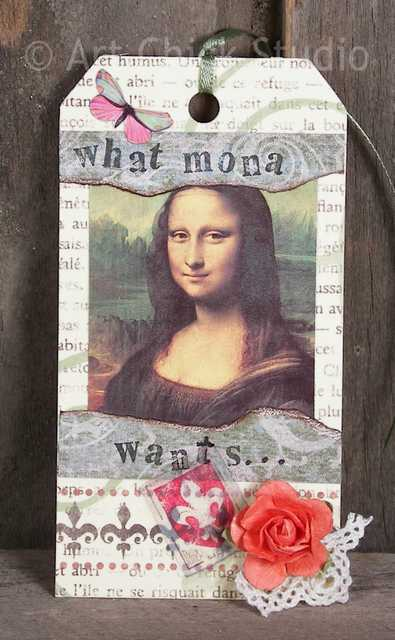 What Mona Wants Altered Art Tag