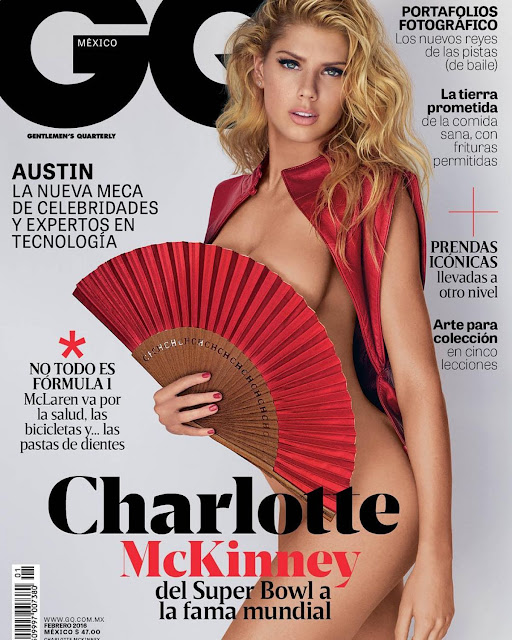 Charlotte Mckinney On The Cover Of Gq Magazine, Mexico February 2016