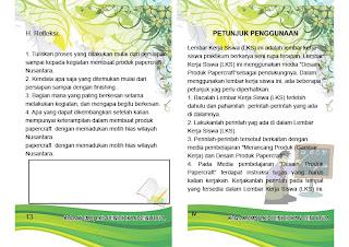 Lembar Kerja Siswa papercraft Nusantara