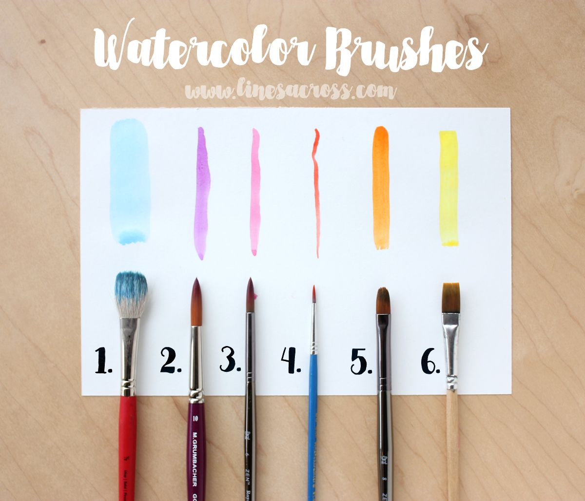lines across watercolors for beginners basic supplies