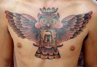 small owl tattoo designs