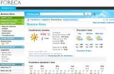 Foreca: pronóstico del tiempo extendido online