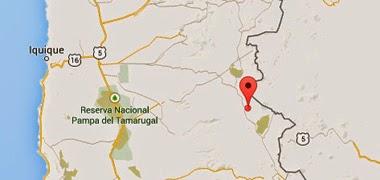 Epicentro sismo 5,0 grados en Chile el 25 de Noviembre 2014