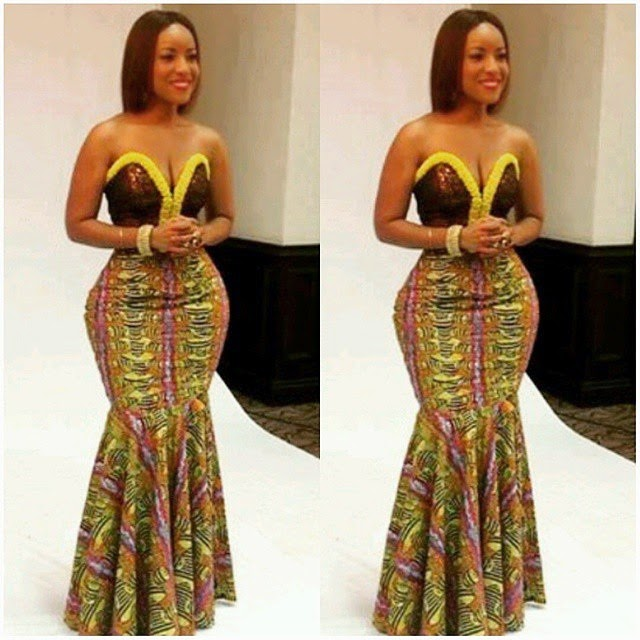 twinglestyle: Beautiful Ankara Long Gown Style For Ladies