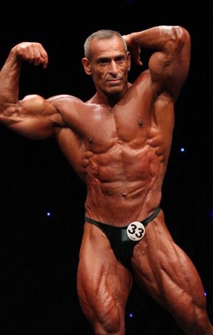 Posing On Stage, Master Bodybuilders