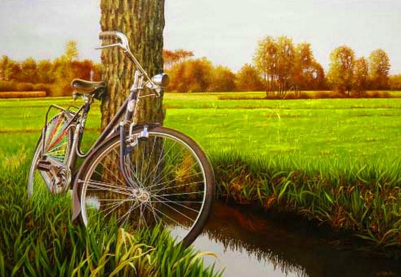 paisajes bonitos con bicicletas imagui
