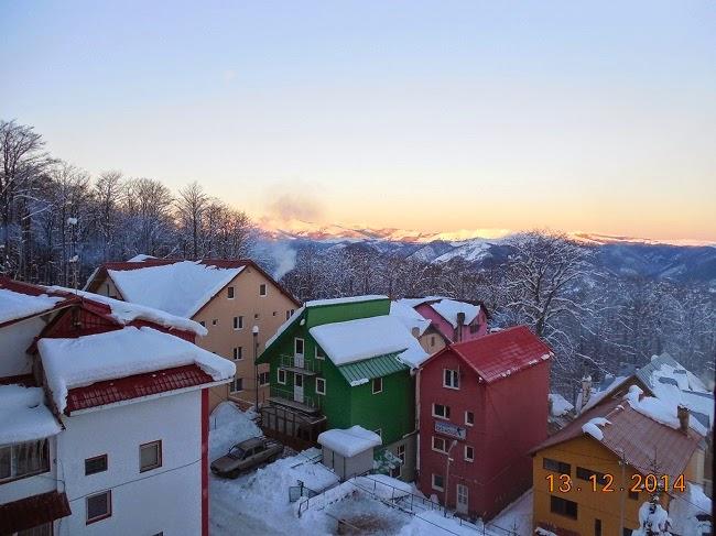 Iarna la Straja vazuta din Vila Alpin