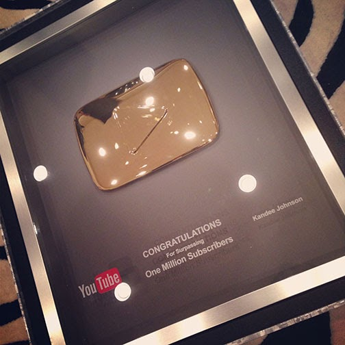 Youtube One Million Subscribers Award and Lots Of Crying: | Kandee ...
