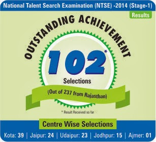 Outstanding Result of NTSE Stage-1 2013-14