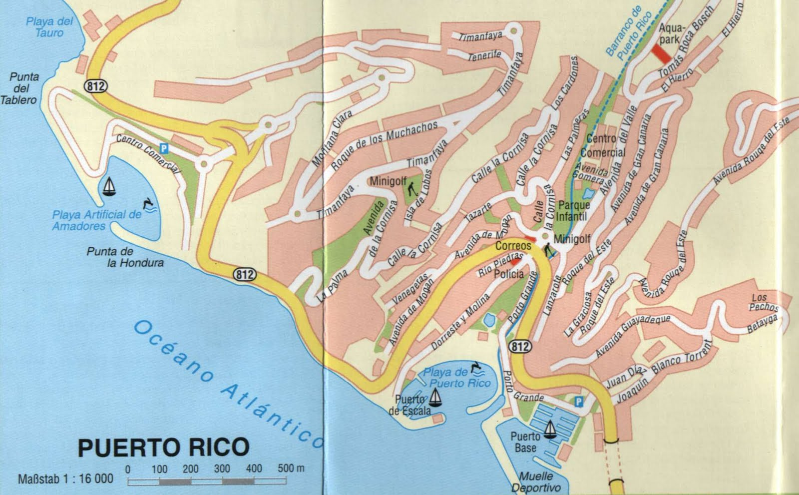 City maps Stadskartor och turistkartor Travel Portal – Puerto Rico Tourist Attractions Map