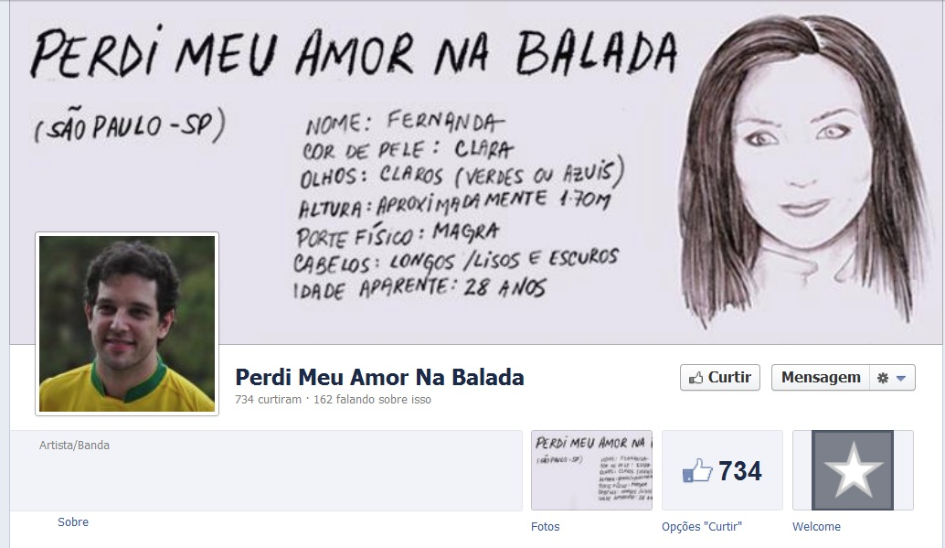 perdi meu amor na balada fanpage facebook