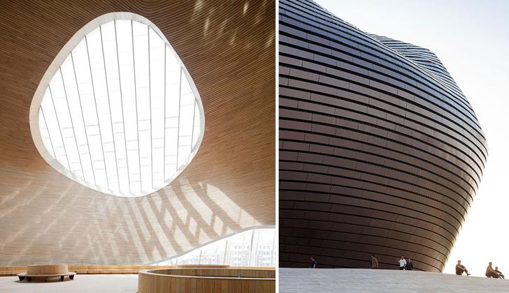 Sostenible museo ordos inspirado en el desierto de gobi - Arquitectura bioclimatica ejemplos ...