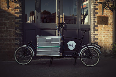 Porterlight Bicycles london built custom cargo bike for East London Liquor Company corporate delivery bike