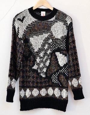 St. Michael (Marks & Spencer) patterned 80s jumper