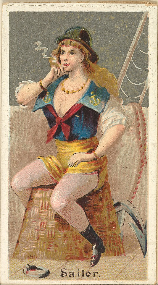 "Sailor. Vintage tobacco card ""Occupations For Women"", via ellomennopee"
