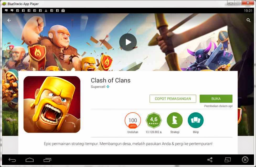 Play Game Clash of Clans (COC) di PC & Laptop