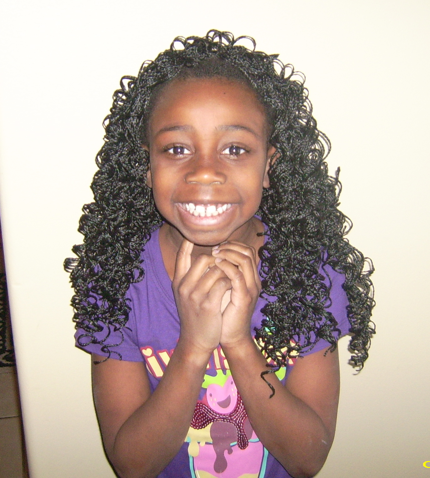 Black Weave Hairstyles with Braids for Kids