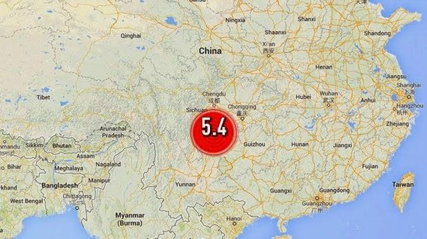20 MIL PERSONAS EVACUADAS POR TERREMOTO DE 5,4 GRADOS EN LA PROVINCIA CHINA DE YUNNAN, 05 de Abril 2014