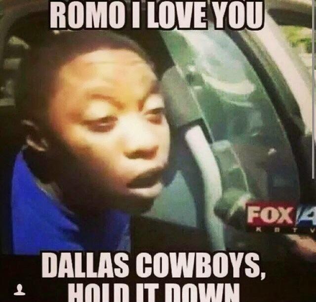 romo I love you dallas cowboys, hold it down
