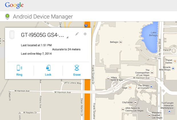 Android Device manager gps