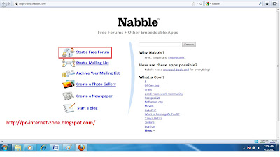 Nabble Forum Start page for blogspot/blogger blog