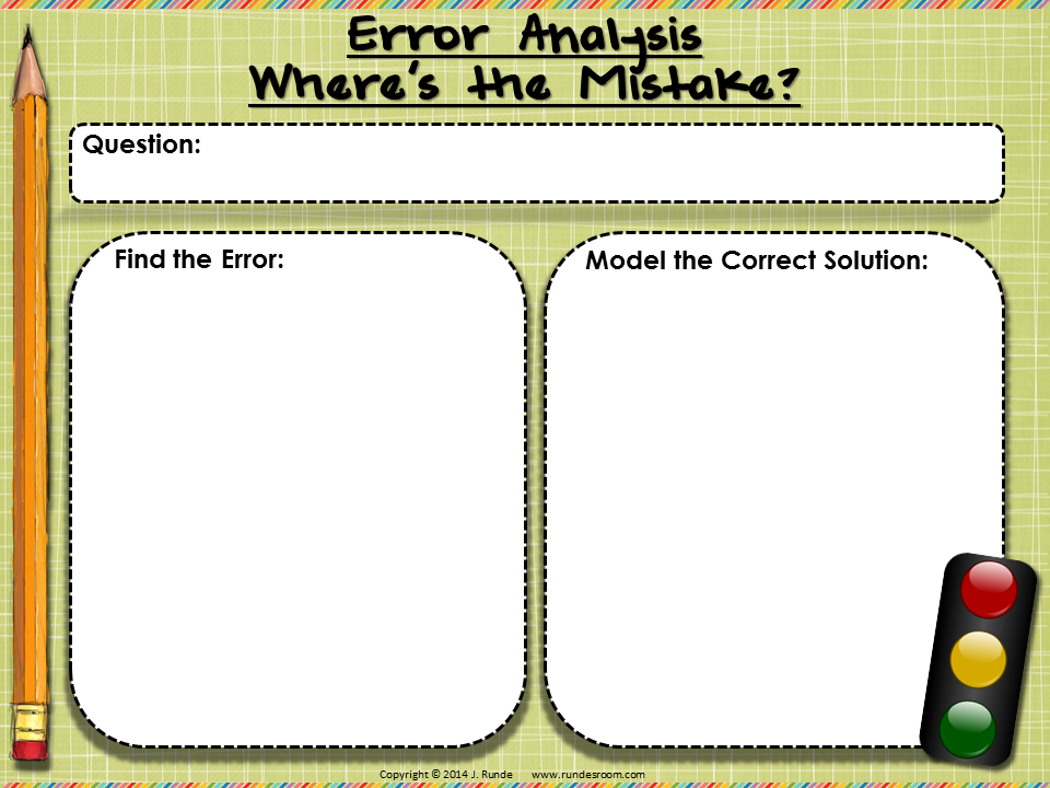 Runde's Room:  Error Analysis Template