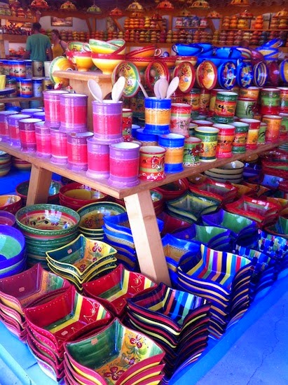 Plenty of pottery for sale in Provence