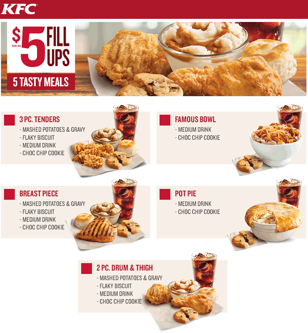 4 verified KFC coupons and promo codes as of Dec 2. Popular now: Check Out KFC $5 Fill Ups Today!. Trust perawan-tante.tk for Restaurants savings.