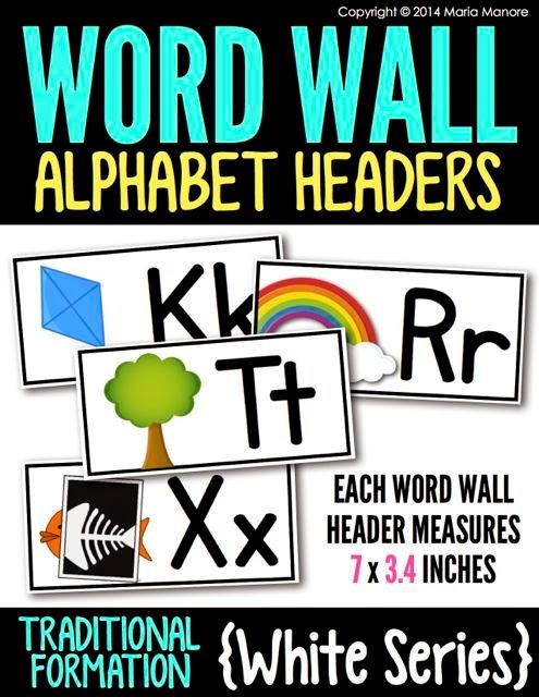 Alphabet Headers Traditional White Series